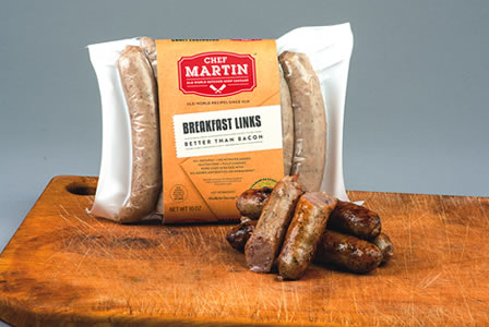 Chef Martin - Old World Butcher Shop Sausage - All Pork Breakfast Sausage Links