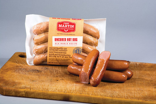 Chef Martin - Old World Butcher Shop Sausage - Uncured Hot Dog